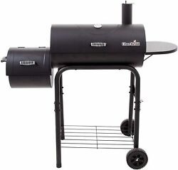 Charcoal Grill Smoker Offset Grate Shelves Bbq Steel Outdoor 2 Wheels Portable