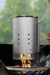 Charcoal Starter Grill Smoker Easy Quick Bbq Briquette Aluminized Steel Outdoor