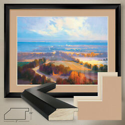 40wx32h Georgian Bay By A. Pell - Seascape - Double Matte, Glass And Frame