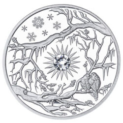 Winter Niue 5 2017 Silver 2oz Proof 3d High-relief Four Seasons Birds And Snow