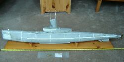 R Class Submarine 1/40 Scale Epoxy Fiberglass Hull Fit For Rc, One Of A Kind