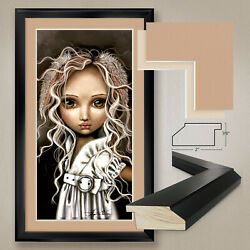 26wx44h Timide Lapin By Angelina Wrona - Rabbit Double Matte, Glass And Frame