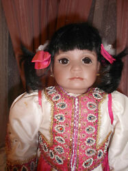 Porcelain Artist East Indian Baby Doll- Hand Made