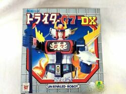 Clover Chogokin Un Rivaled-robot Tridor G7 Action Figure With Box Japan Anime
