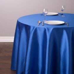 Tablecloth Satin Round Table Cover Restaurant Banquet Decorations 10 Pcs/lot New