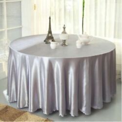 Table Cover Satin Tablecloth For Wedding Restaurant Banquet Decoration 10 Pieces