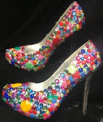 James Price HAUS OF PRICE Designer Platform Jeweled High Heel Shoes Sz 7 12 $100.00
