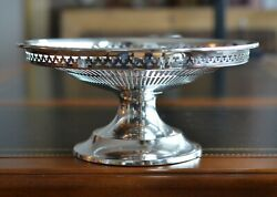 Solid Sterling Silver Pedestal Compote Rwands Wallace Pierced   11.71oz.