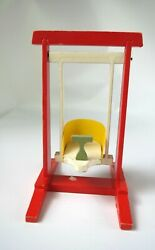 Vintage Wooden Swing Small Size Dolls 1960's East Germany Painted Red 5 Tall