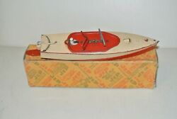 Jep Old Toy Mechanical In Sheet Metal - Dinghy Basin Ribbon Blue - Ref Box 915