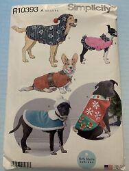 Simplicity Sewing Pattern R10393 A U.s. Dog Coats And Hats In 3 Sizes S-l