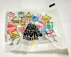 Real Road Signs Stickers Cards Unfolded Wrapper Fleer 1960s Nrmt