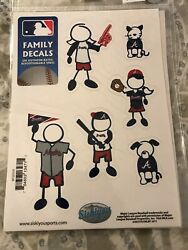 Atlanta Braves package of Family Decals. 6 assorted Decals MLB FREE SHIPPING