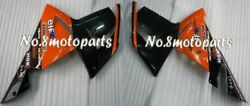 Fit For 2004-2005 Zx-10r Orange Black Abs Injection Left Right Side Fairings A01