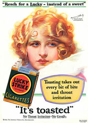 Lucky Instead Of Sweet - Lucky Strike Cigarettes - Myrna Darby - 1929 Ad Poster