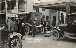 DERBY LINE VT CUSTOMS INSPECTION AT CANADIAN BORDER CAR REAL PHOTO PC c 1920#x27;s