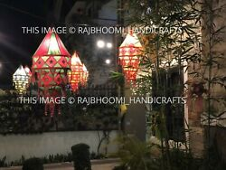 Wholesale Lot Of Indian Decorative Lamp Shade Cotton Fabric Collapsible Lanterns