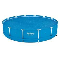 Bestway 14' Round Floating Above Ground Swimming Pool Solar Heat Cover Used