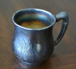 Barbour Silver Company Quadruple Silver Plated Engraved Cup