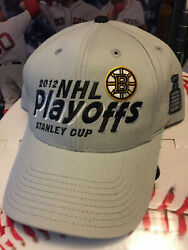 Boston Bruins Nhl Oth 2012 Stanley Cup Playoffs Hat Cap Old Time Hockey Gray B's