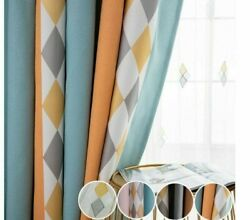 Nordic Curtains Stitching Stripe Window Shade Cloths For Living Room Bedroom New
