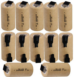 12 pcs SC battery 2200mah SUBC batteries rechargeable nicd 1.2V real capacity