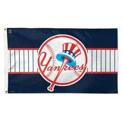 New York Yankees Cooperstown Collection 3'x5' Deluxe Flag Brand New Wincraft