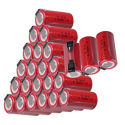 24 pcs SC battery 1500mah SUBC batteries rechargeable nicd 1.2V real capacity