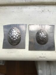 Set Vintage Antique Small Candy Molds, Cracled Egg Shell,walnut,mint Hollow Form