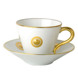Ithaque Gold By Bernardaud Fine China Cup And Saucer 2 5/8 New