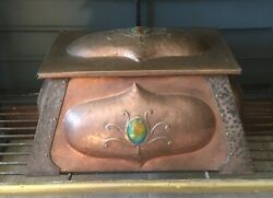 Art Nouveau/arts And Crafts Copper Fireplace Kindling And Tinder Box Circa 1900and039s