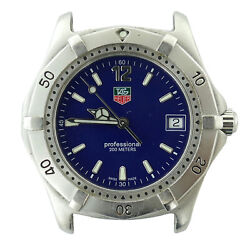 Tag Heuer Professional Wk1113-1 Blue Dial Stainless Steel 37mm Watch Head