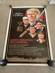 DAVID BOWIE MERRY CHRISTMAS MR. LAWRENCE HUGE STUDIO POSTER ABSOLUTELY MINT!