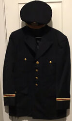 Us Army Dress Blue Officer Jacket And Flight Ace Dress Hat Post Wwii Dated 1957