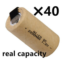 Sub C battery 2200mah SC batteries power tool rechargeable nicd real capacity