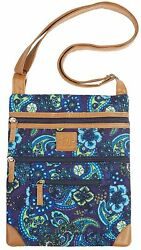 Stone Mountain Lockport Quilted Handbag One Size Navy multi $10.50