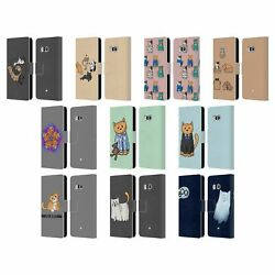 Official Beth Wilson Doodle Cats 2 Leather Book Wallet Case For Htc Phones 1