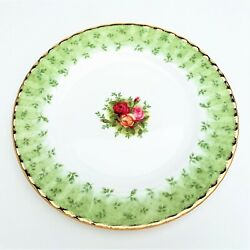 Rare Royal Albert 'old Country Roses' Green Accent Salad Plate, Factory New