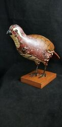 Hand Carved And Painted Quail By Carl Forslund Grand Rapids Mi Wooden Folk Art Es