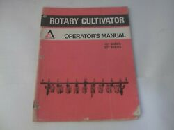 1975 Allis-chalmers Series 101 201 Rotary Cultivators Operator's Manual