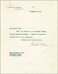 Woodrow Wilson - Typed Letter Signed 12/05/1916