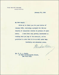Woodrow Wilson - Typed Letter Signed 01/30/1914