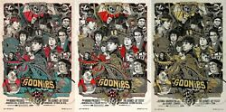 The Goonies By Tyler Stout - Set Of 3 Prints - Rare Sold Out Mondo Print