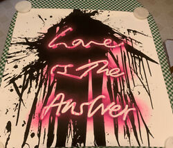 Love On By Mr. Brainwash - Love Is The Answer - Signed Neon Print - Sold Out