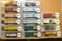 N Scale Cars Sold Individually, Micro Trains Series Xmas Ice Cream Battle Ships