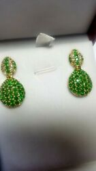 Gorgeous Natural Colombian Round Emeralds 4.10 Cts/20 White F Color Vs2 Dia