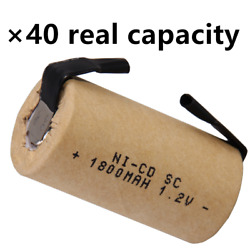 Sub C battery 1800mah SC batteries rechargeable nicd real capacity 1.2V lot