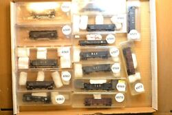 N Scale Cars Sold Individually, Nicely Weathered Coal Cars Nw Bando Nyc
