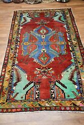Authentic Red Antique 5x10 Anatolian Turkish Oriental Area Rug