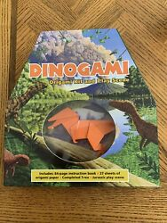 Dinogami Origami Book Kit And Play Scene Dinosaur T-rex Velocirapter And More